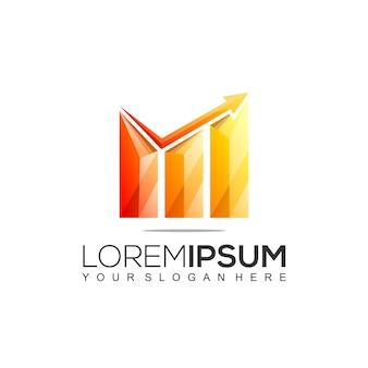Buchhaltung finanzielle bunte logo-vorlage