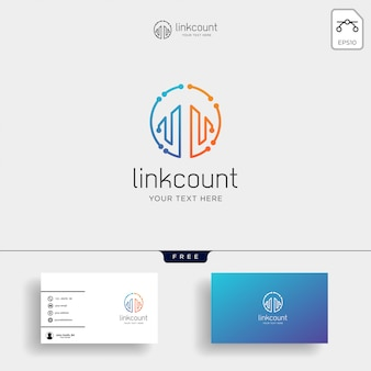 Buchhaltung, finanzieren sie kreative logoschablone