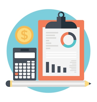 Buchhaltungskonzept, klemmbrett mit finanzbericht