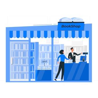 Buchhandlung konzeptillustration
