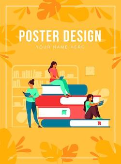 Buchleser poster vorlage