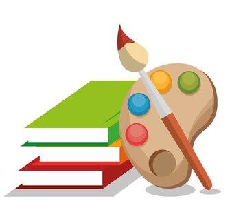 Buchschule lokalisierte Ikonenvektor-Illustrationsdesign