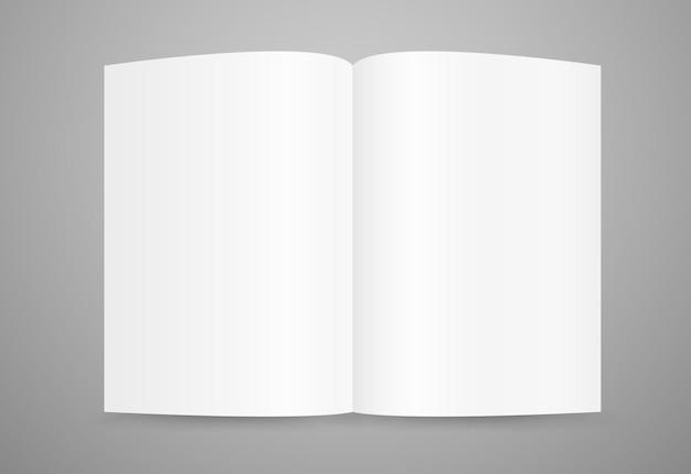 Buchseitenvorlage öffnen. bereit für einen inhalt