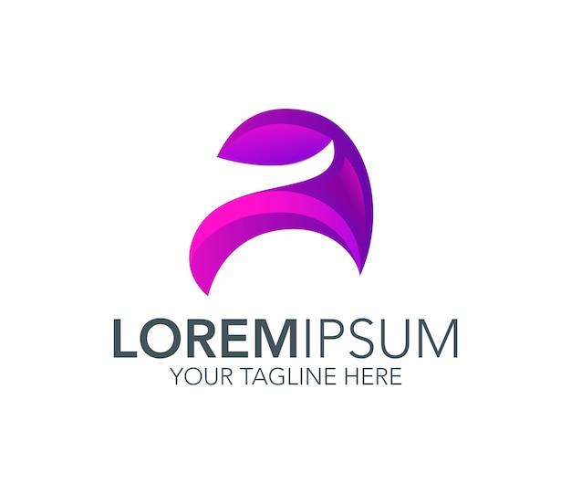 Buchstabe a design-logo