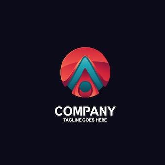 Buchstabe a in 3d-design-logo