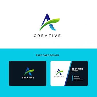 Buchstabe a logo design template