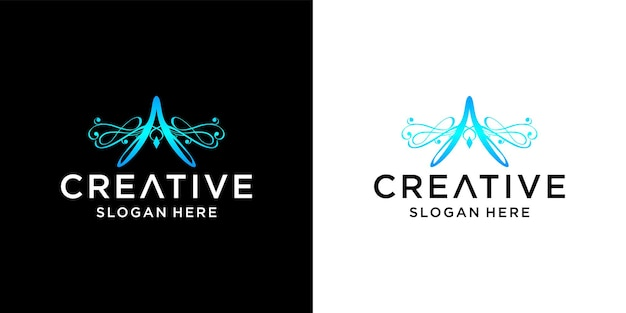 Buchstabe a logo-design