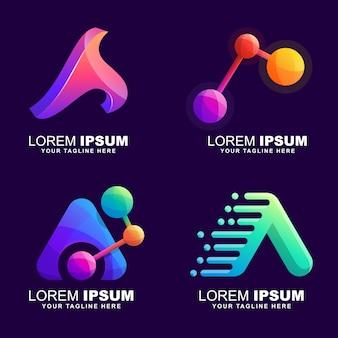 Buchstabe a logo festgelegt