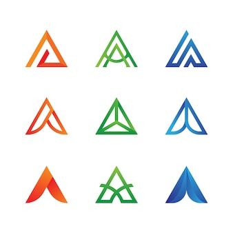 Buchstabe a-logo-sammlung