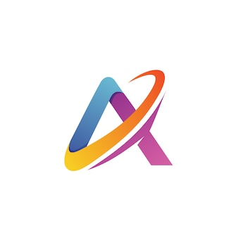 Buchstabe a logo-vektor