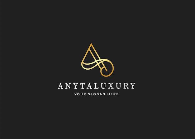 Buchstabe a luxus-logo-design-vorlage