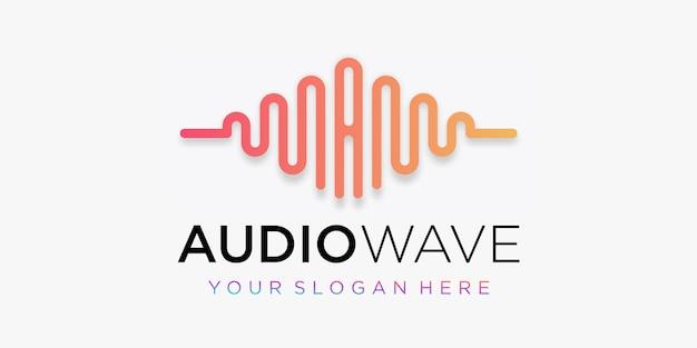 Buchstabe a mit puls. audio-wellenelement. logo-vorlage elektronische musik, equalizer, laden, dj-musik, nachtclub, disco. audio-wellen-logo-konzept, thematische multimedia-technologie, abstrakte form.
