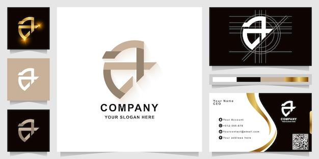 Buchstabe a oder aa monogramm-logo-vorlage mit visitenkarten-design