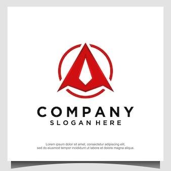 Buchstabe a pfeil pfeilspitze bogenschütze logo