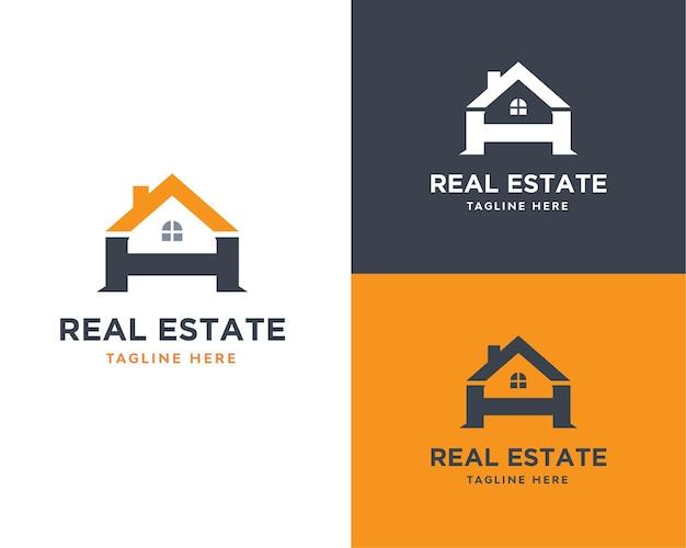 Buchstabe a und h immobilienfirmenlogo