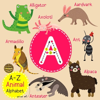 Buchstabe a zoo alphabet