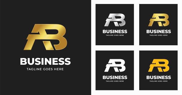 Buchstabe ab logo-designvorlage letter