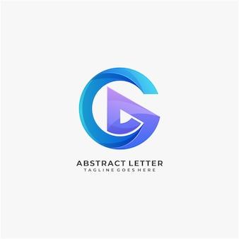 Buchstabe abstraktes logo design bunt modern und digital