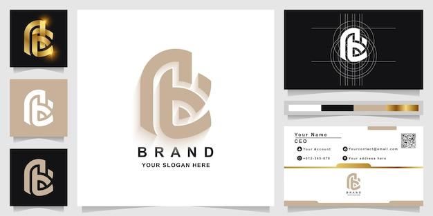Buchstabe ae oder ab monogramm logo vorlage mit visitenkartendesign