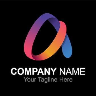 Buchstabe alphabet ein logo