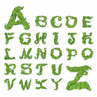 Buchstabe alphabet hand zeichnen
