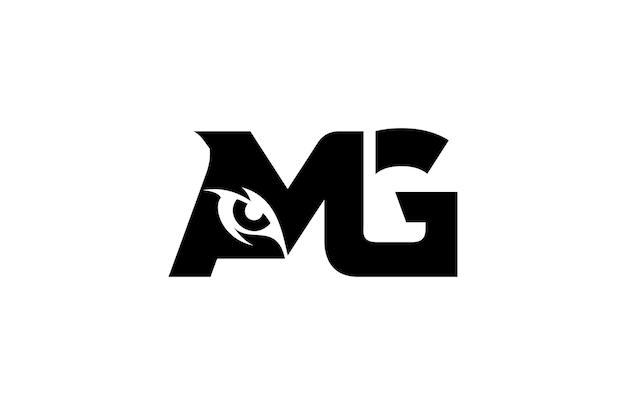 Buchstabe amg eye monogram logo