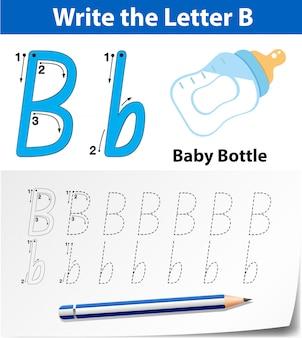 Buchstabe b bei der suche nach alphabet-arbeitsblättern