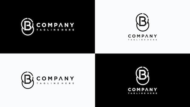 Buchstabe b logo design premium-vektor