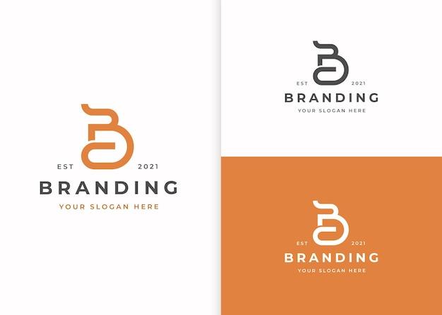 Buchstabe b logo-designvorlage