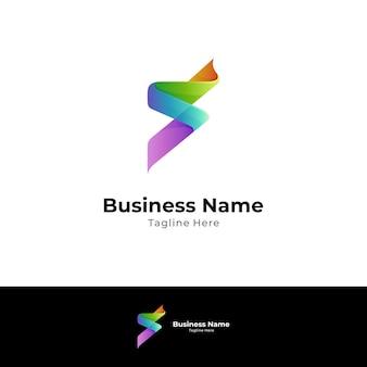 Buchstabe b-logo mit 3d-bandformkonzept