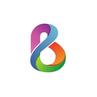 Buchstabe b logo vektor