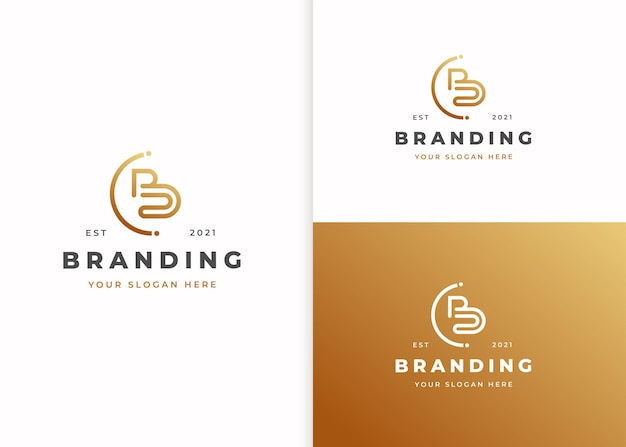 Buchstabe b luxus-logo-design-vorlage