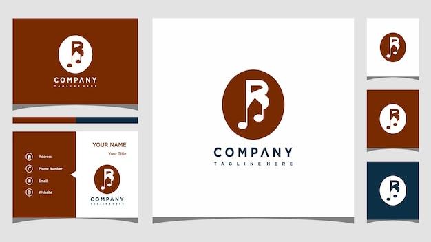 Buchstabe b musik logo design vektor premium-vektor