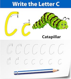 Buchstabe c für alphabetarbeitsblätter