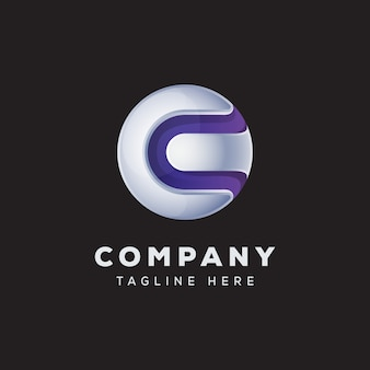 Buchstabe c globus logo konzept premium vektor