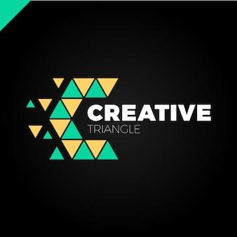 Buchstabe c kreative dreieck farbe logo design-vorlage