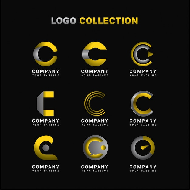 Buchstabe c logo collection