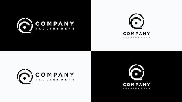 Buchstabe c logo design premium-vektor
