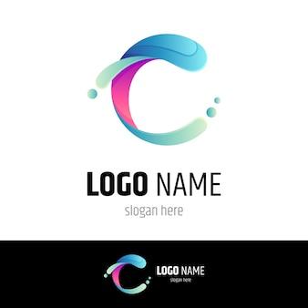 Buchstabe c logo mit wassertropfen