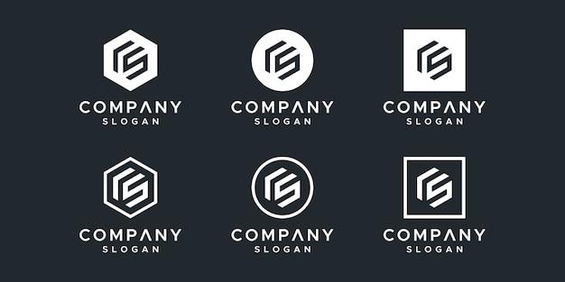 Buchstabe cs inspirierendes logo-design
