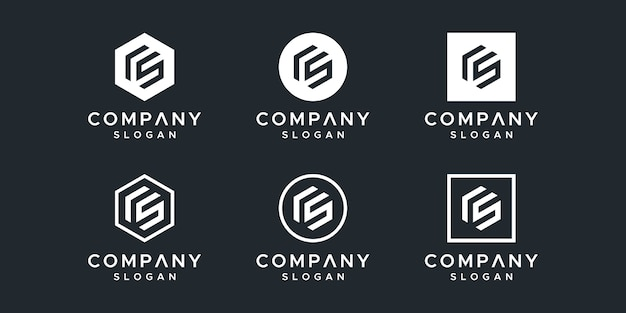 Buchstabe cs logo design vektor