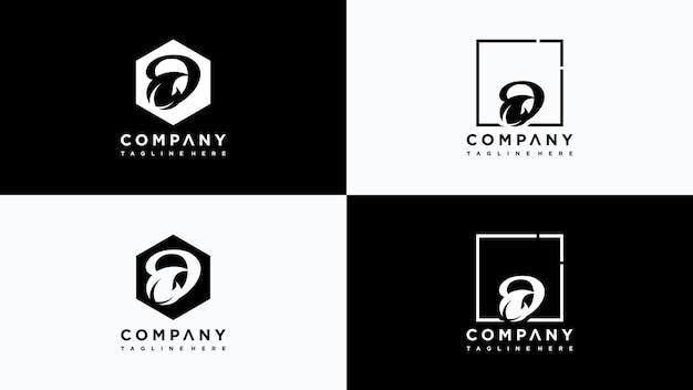 Buchstabe d blatt logo design vektor premium-vektor