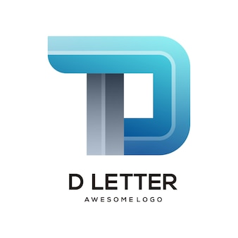 Buchstabe d bunte logo-design-vorlage modern