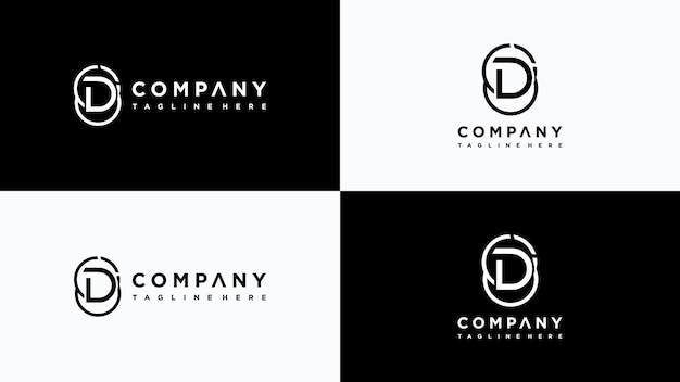 Buchstabe d logo design premium-vektor