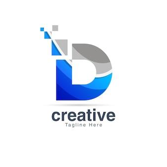 Buchstabe d logo-design-vorlage
