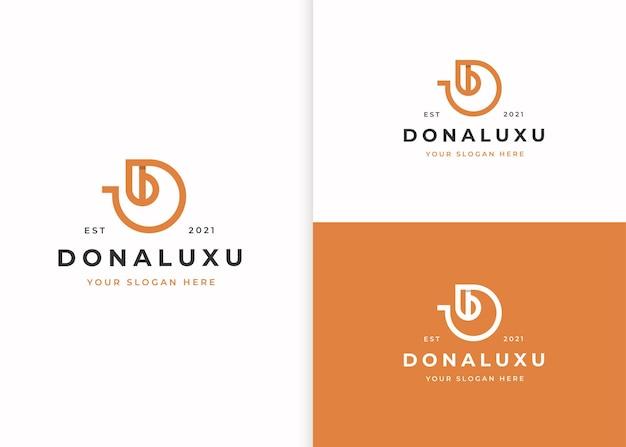 Buchstabe d logo-designvorlage