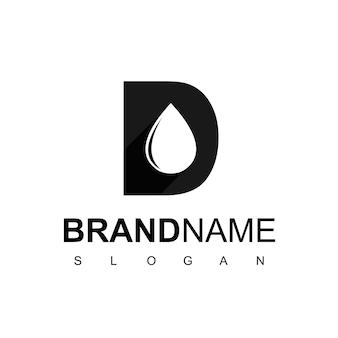 Buchstabe d, logo für ölbohrungen