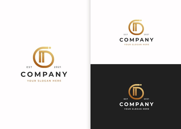 Buchstabe d luxus-logo-design-vorlage