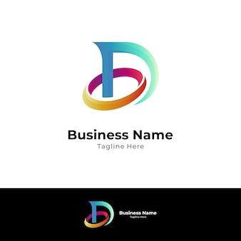 Buchstabe d und buchstabe o monogramm-logo-konzept
