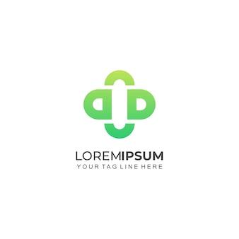 Buchstabe dc bildung gesundheit logo vorlage